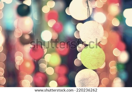 Vintage party night with a light ball.  - stock photo