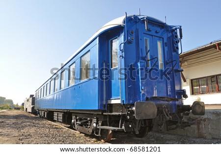 vintage passenger rail car - stock photo
