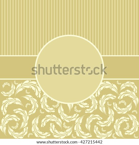 Vintage pattern for invitation or greeting card, - stock photo