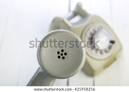 Vintage phone and receiver  - stock photo