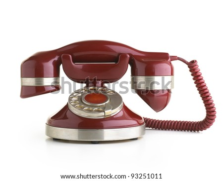 Vintage Phone isolate on white background