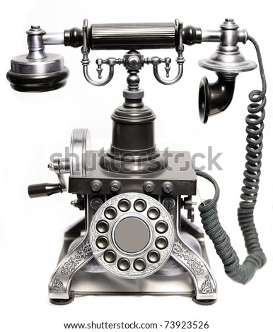Vintage phone isolated