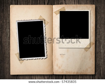 Vintage photo album, with copy space, clipping path. - stock photo