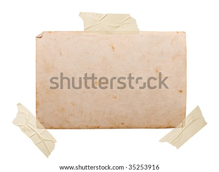 Vintage photo, clipping path, big collection - stock photo