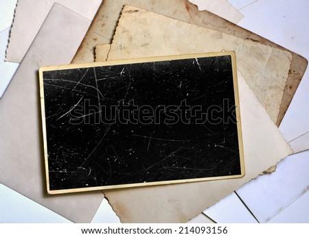 Vintage photo frame - stock photo