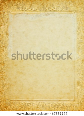 vintage photo frame - stock photo