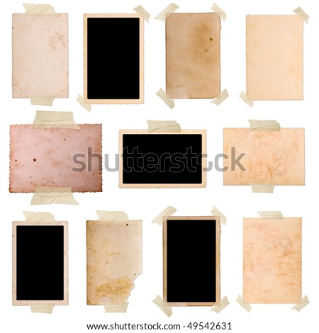 Vintage photo frames set 9, big collection - stock photo