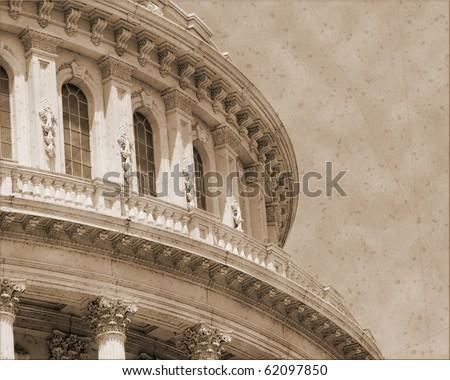 Vintage photo imitation of Washington DC - stock photo