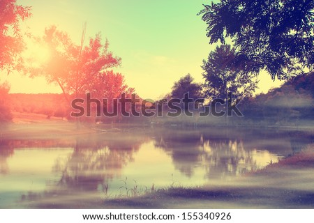 Vintage photo of autumn impression - stock photo