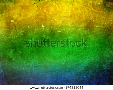 Vintage photo of Brazil flag  - stock photo
