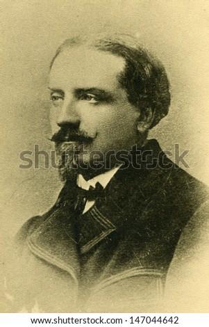 Vintage photo of man circa 1890 - stock photo