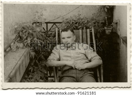 Vintage photo of man (fifties)
