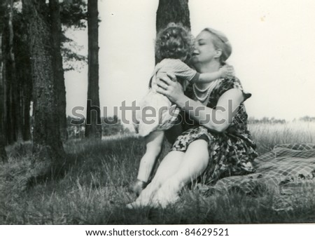 Image result for black and white mother and daughter under a tree