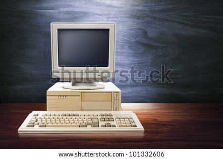 vintage photo of obsolete technology - stock photo