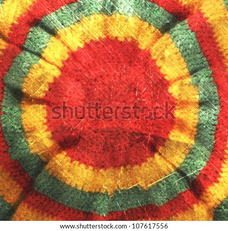 vintage photo retro style rasta hat hippie background - stock photo