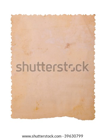 Vintage photo saved with clipping path. big collection - stock photo