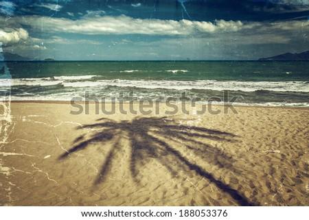 Vintage photo. Seascape  - stock photo