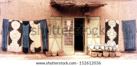 vintage photograph from moroccan house in marrakesh  - stock photo