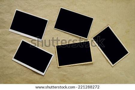 Vintage photographic deckle edged picture frames , free copy space - stock photo