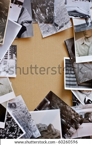 Vintage photos background. - stock photo