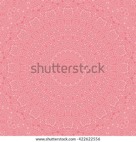 Vintage pink cover. Old lace pattern from ornamental elements. Can be used for wallpaper, pattern fills, web page background,surface textures. - stock photo