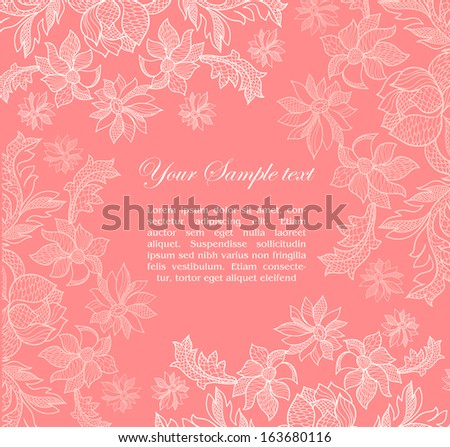 vintage pink lacy background