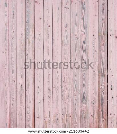 Vintage Pink Wood Planks  - stock photo