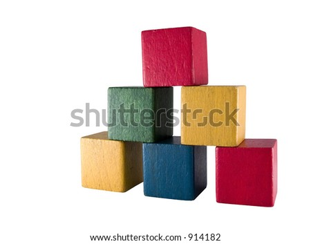 Vintage play blocks - stock photo