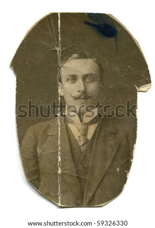 Vintage portrait of man - stock photo