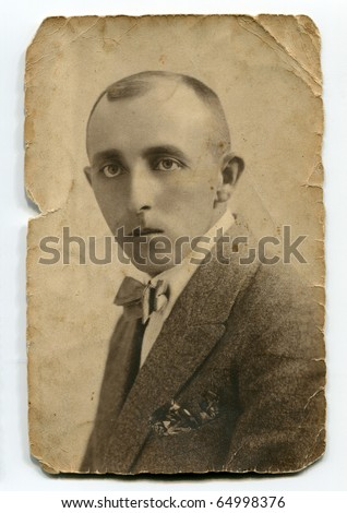Vintage portrait of man - stock photo