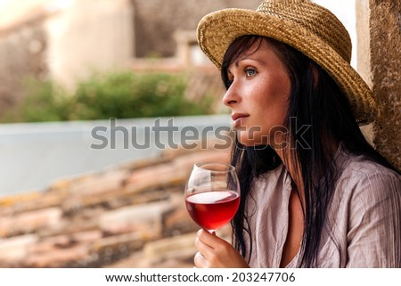 vintage portrait of wine taste in spain italy france