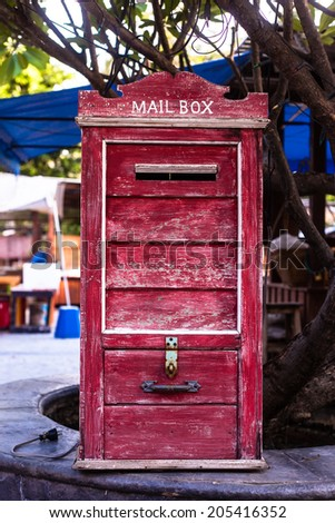Vintage Postbox in Thailand - stock photo