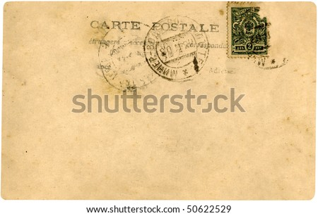 Vintage postcard from early 1900's. - stock photo