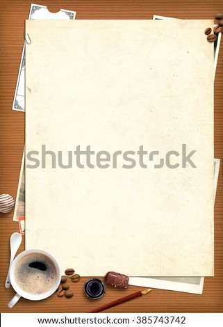 Vintage poster,  background for text - stock photo