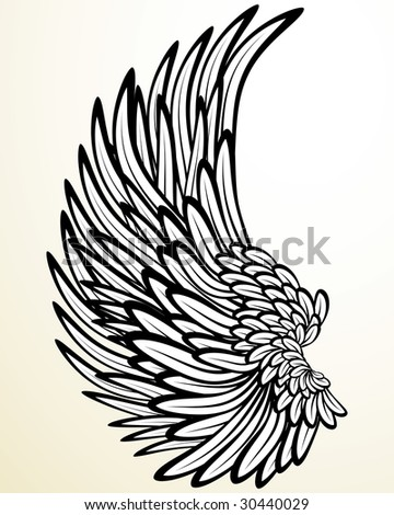 Vintage print: wing