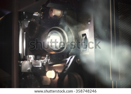 Vintage Projector in Use