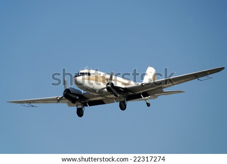 Vintage propeller airplane used for crop dusting - stock photo