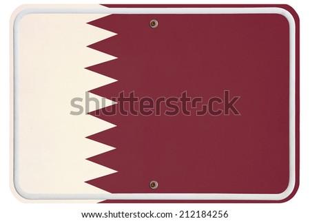 Vintage Qatar metal sign - stock photo