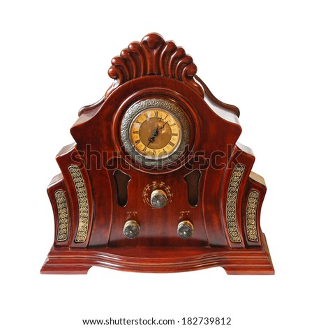 Vintage radio isolated included clipping path - stock photo