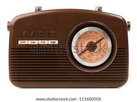 Vintage Radio On White Background - stock photo