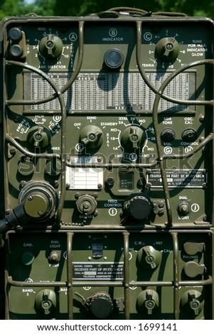 Vintage radio transmitter - stock photo