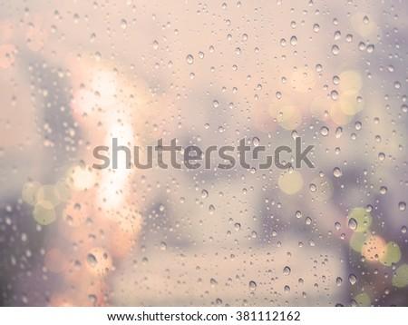 Vintage Rain drop background - stock photo