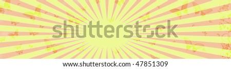vintage ray pattern background - stock photo