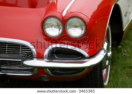 Vintage red - stock photo