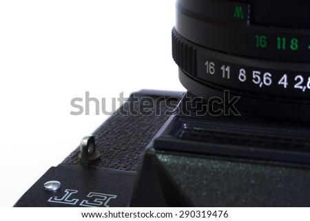 Vintage reflex camera - stock photo