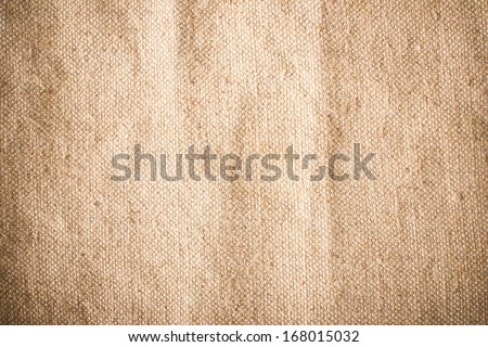 Vintage retro flour bag texture. - stock photo