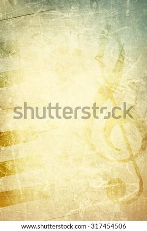 Vintage Retro Music Concept Background - stock photo
