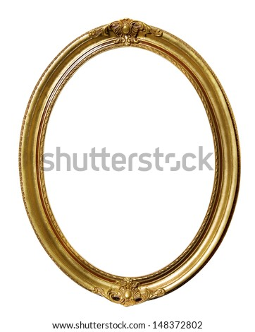 Vintage Retro Old Picture Frame - stock photo