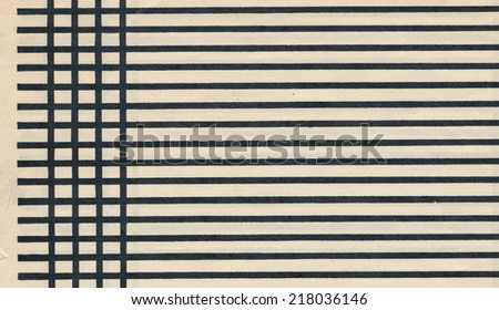 vintage retro  paper page sheet with black line background - stock photo