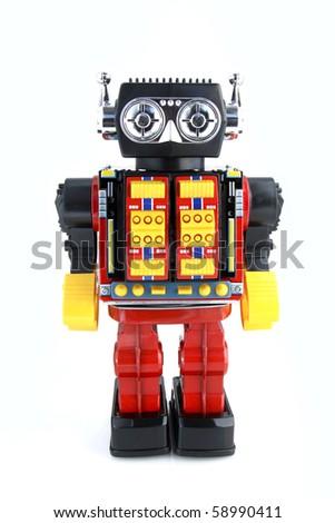 Vintage Retro Robot - stock photo